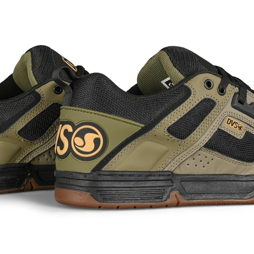 DVS Comanche Skate Shoes - Brindle / Burnt Olive / Black Leather