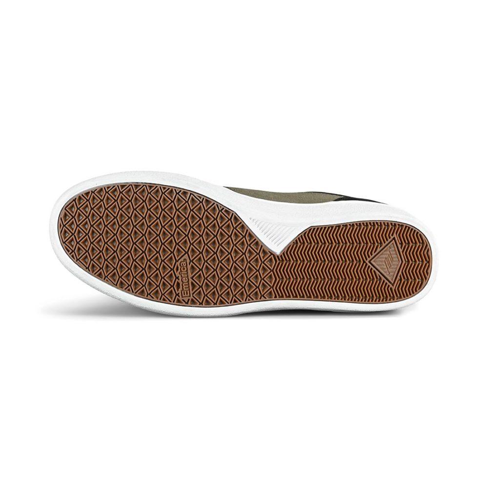 Emerica Alcove CC Skate Shoes - Black / Olive / Black