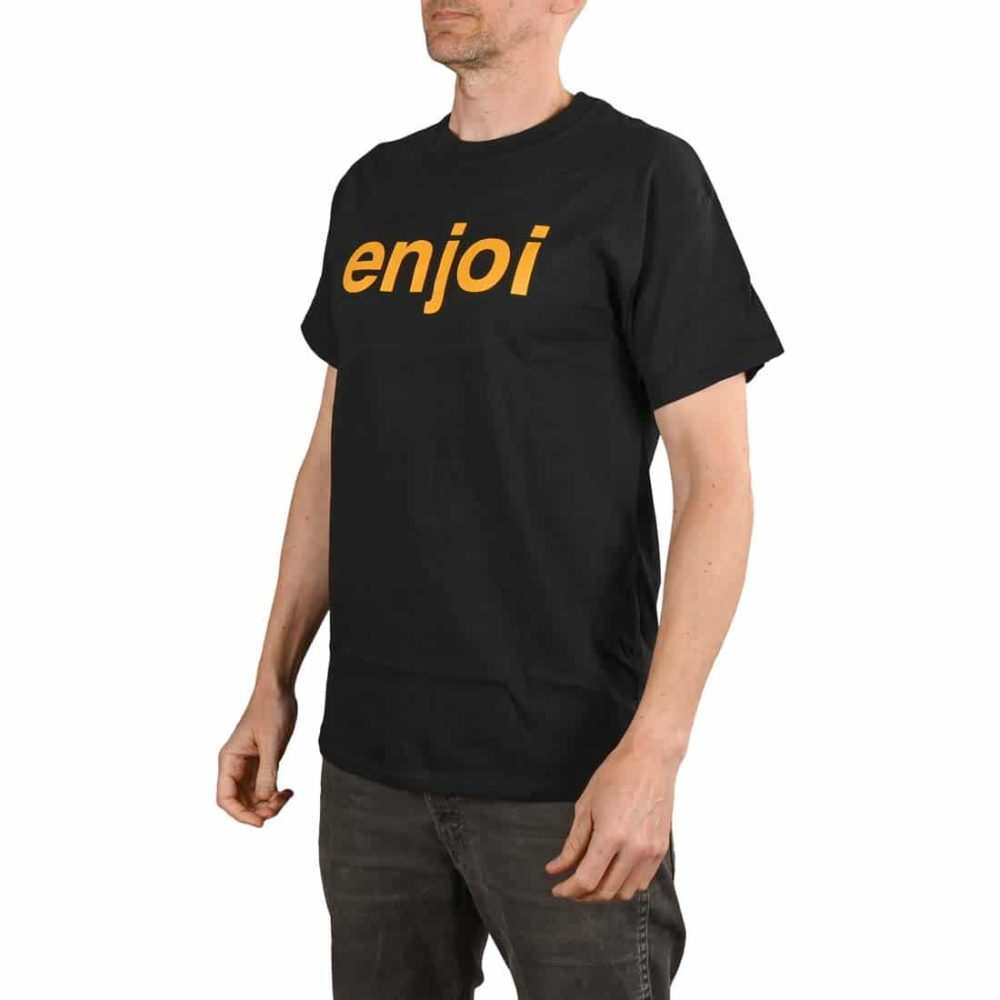 Enjoi Skateboards Helvetica Logo S/S T-Shirt - Black