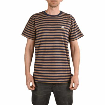 Enjoi Skateboards Invert Striped Crew T-Shirt - Navy