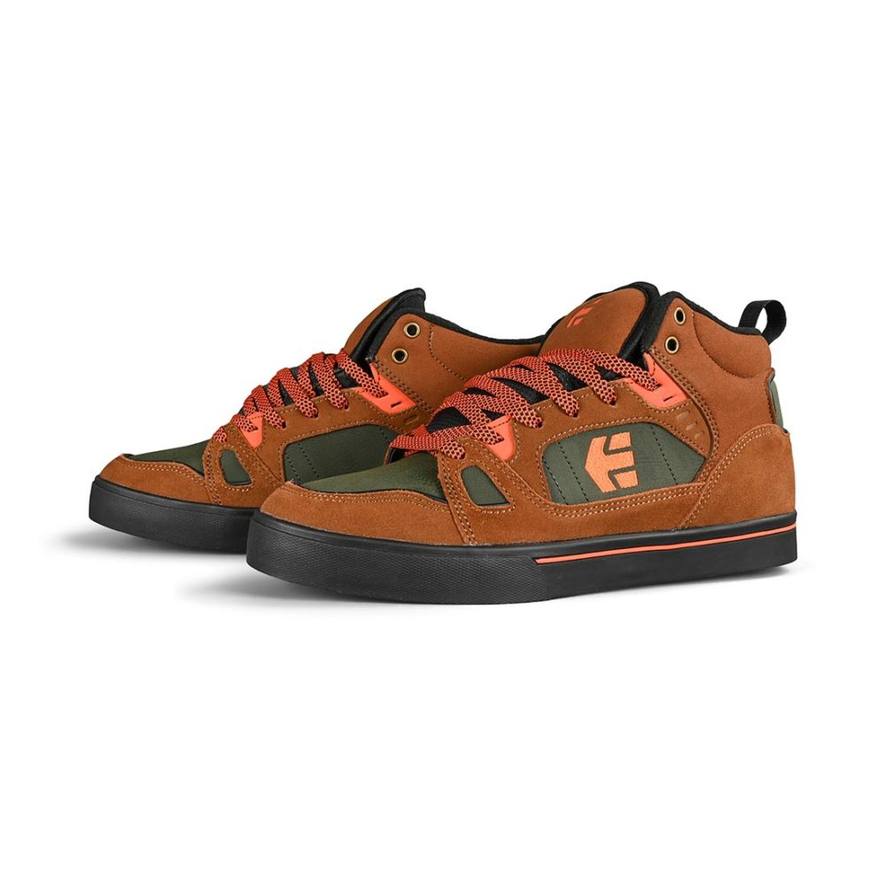 Etnies Agron High-Top Shoes - Brown / Black