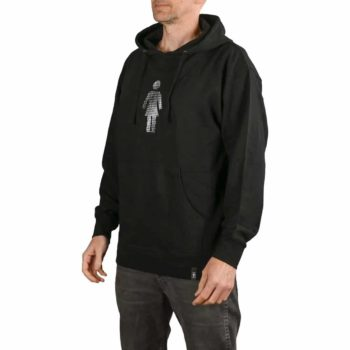 Girl Skateboards Dot OG Embroidered Pullover Hoodie - Black
