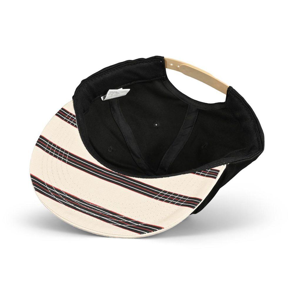 Independent Hachure Snapback Cap - Black / Athletic Heather