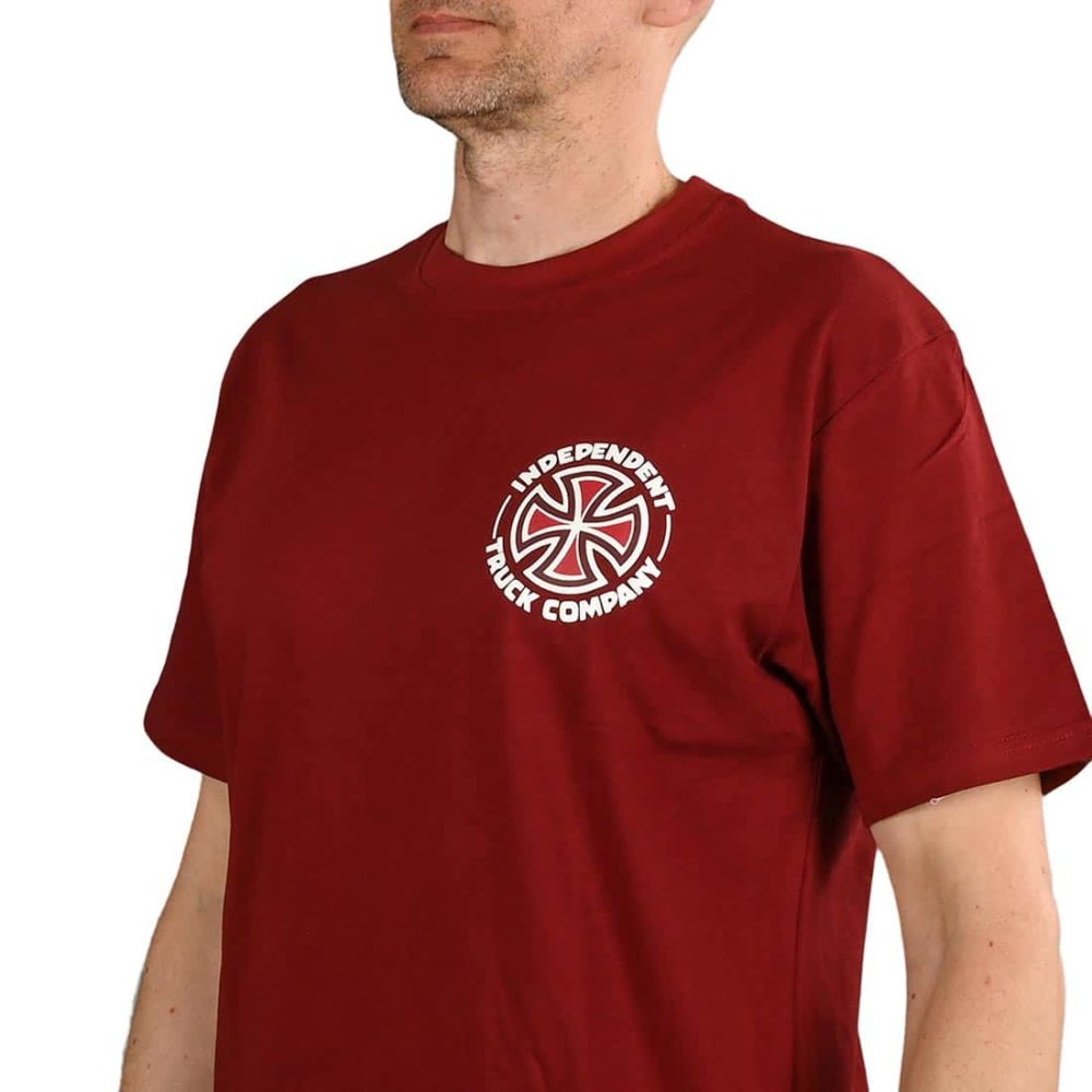 Independent Meld S/S T-Shirt - Burgundy