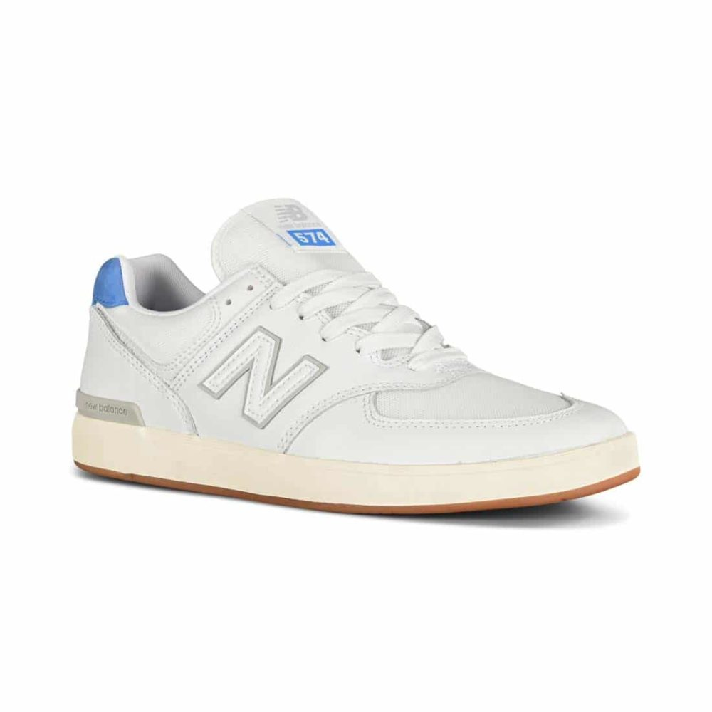 New Balance All Coasts 574 Shoes - White / Royal