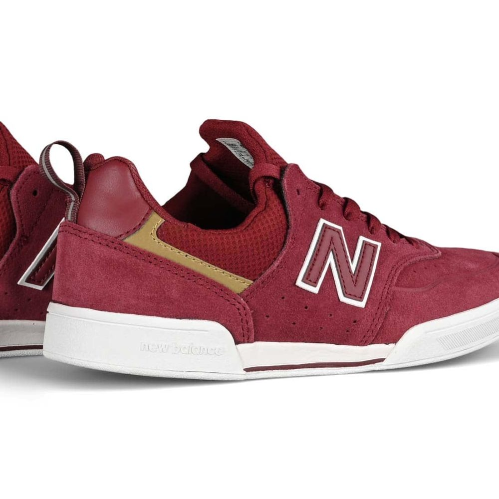 New Balance Numeric 288 Shoes - Burgundy / White Suede
