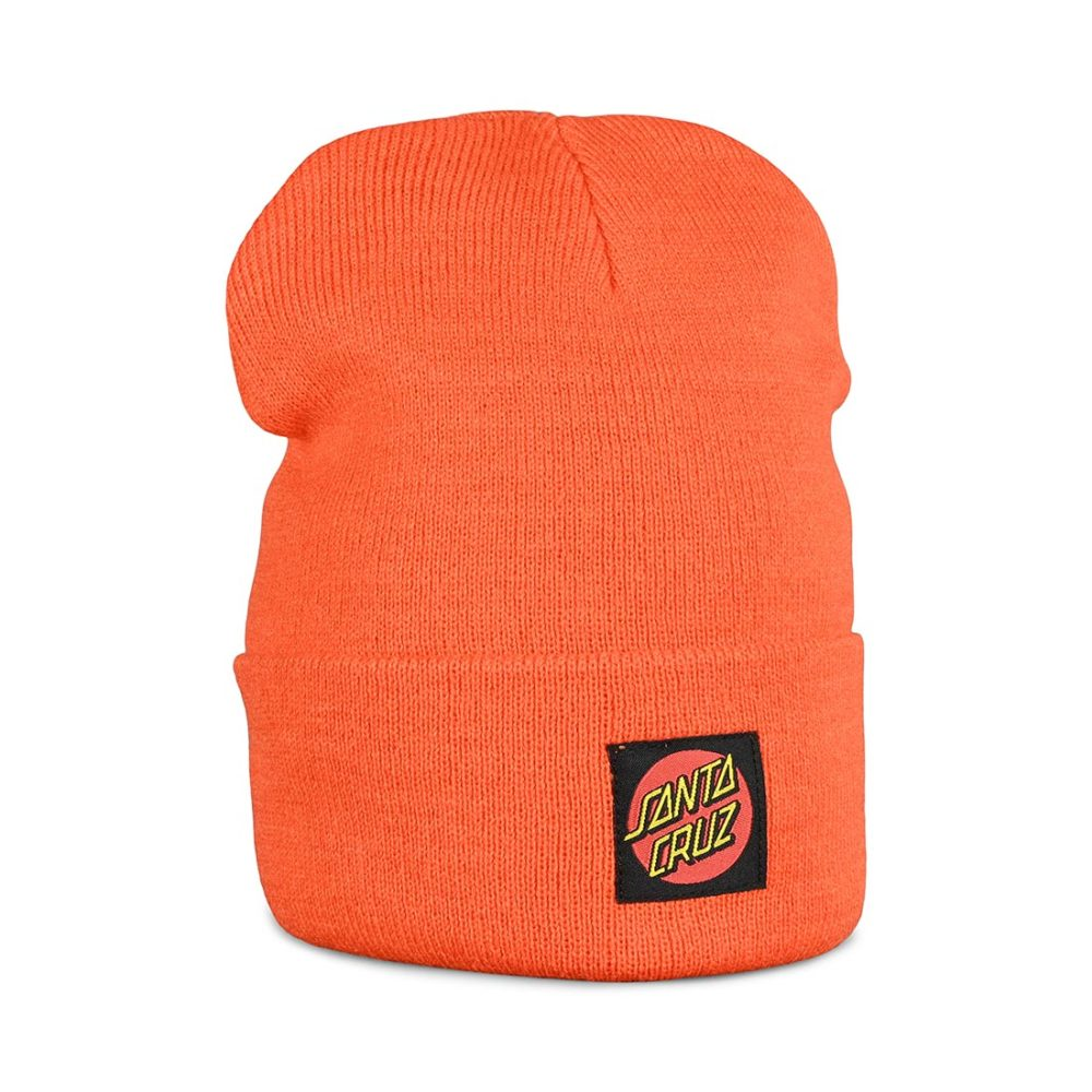 Santa Cruz Classic Dot Label Beanie Hat - Warm Orange