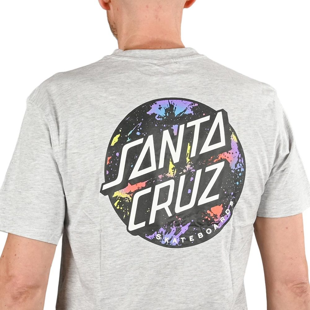 Santa Cruz Dot Splatter S/S T-Shirt - Athletic Heather