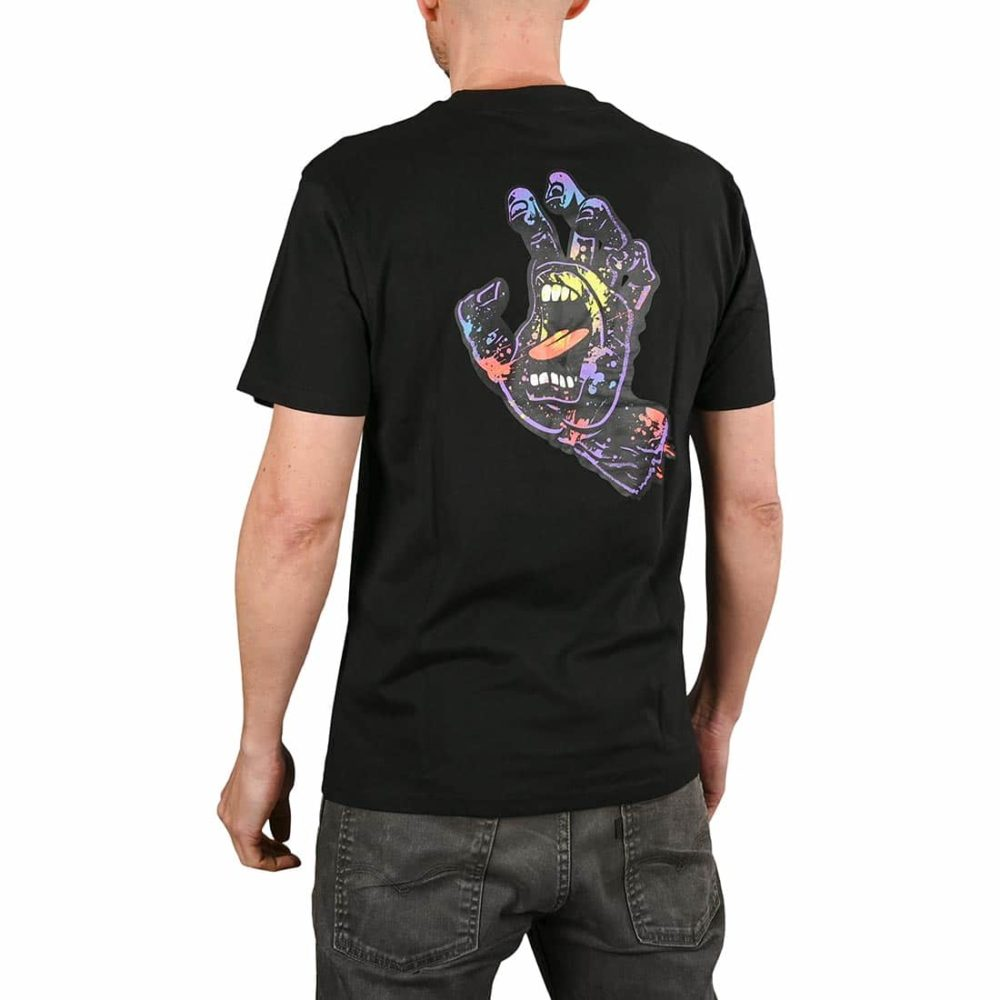 Santa Cruz Hand Splatter S/S T-Shirt - Black