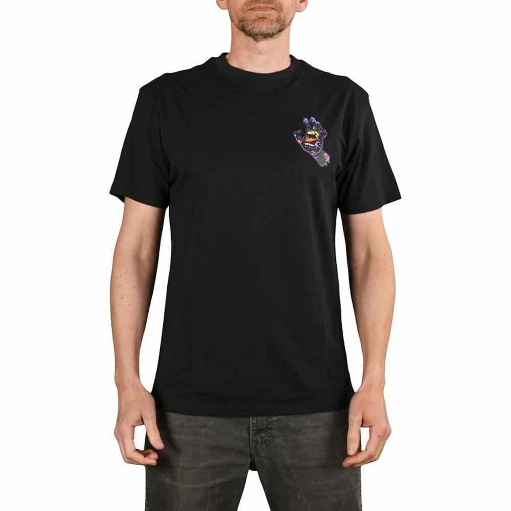 Santa Cruz Hand Splatter S/S T-Shirt - Black