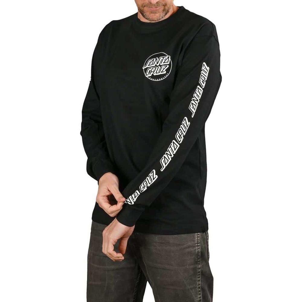 Santa Cruz Opus Dot Sleeves L/S T-Shirt - Black