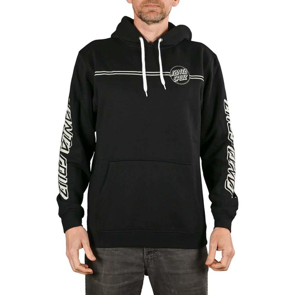 Santa Cruz Opus Dot Stripe Pullover Hoodie - Black