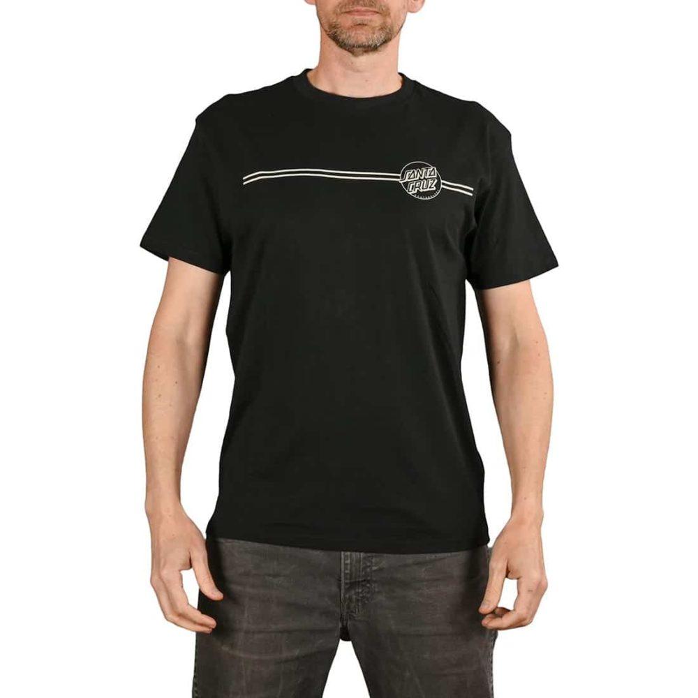 Santa Cruz Opus Dot Stripe S/S T-Shirt - Black / Grey