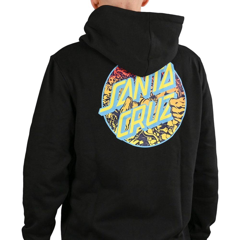 Santa Cruz Roskopp Dot Zip-Up Hoodie - Black