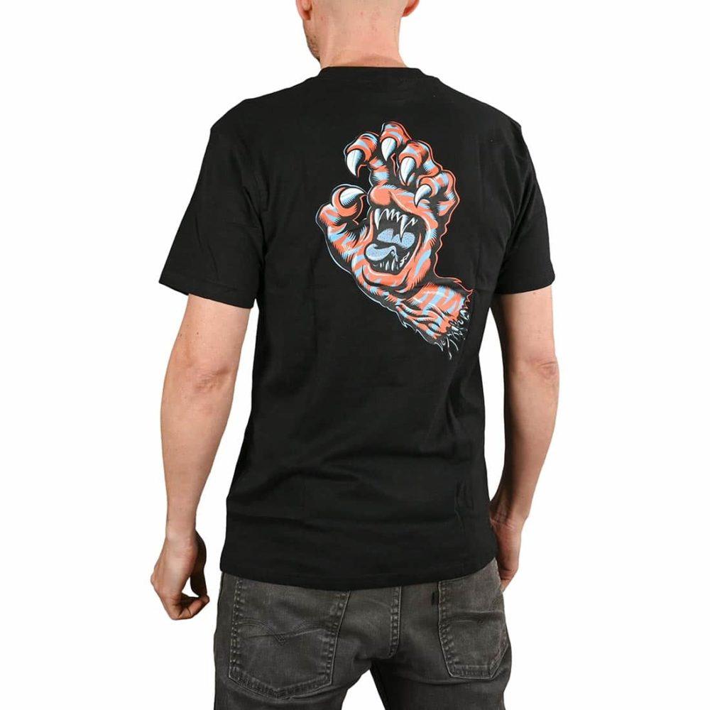 Santa Cruz Salba Tiger Hand S/S T-Shirt - Black