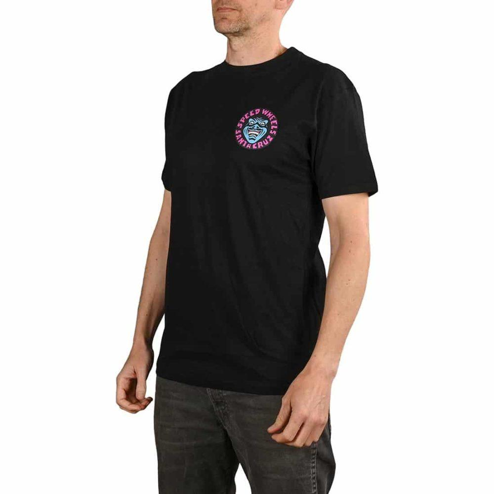 Santa Cruz Speed Wheels Faces S/S T-Shirt - Black