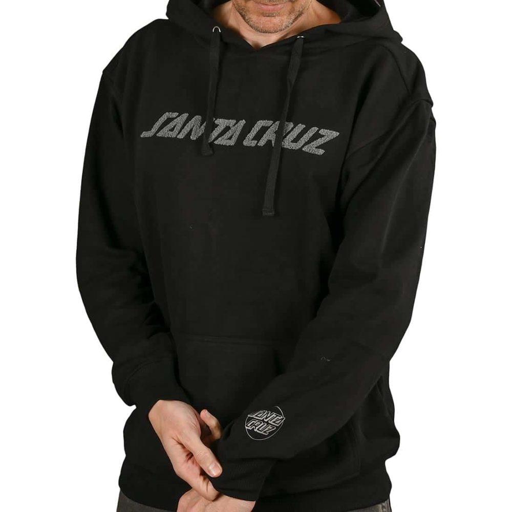 Santa Cruz Strip Chenille Pullover Hoodie - Black