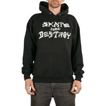 Thrasher Skate And Destroy Pullover Hoodie - Black