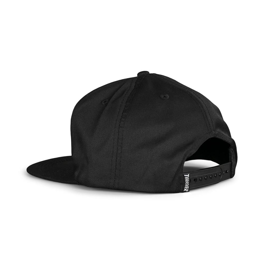Thrasher Skate And Destroy Snapback Cap - Black