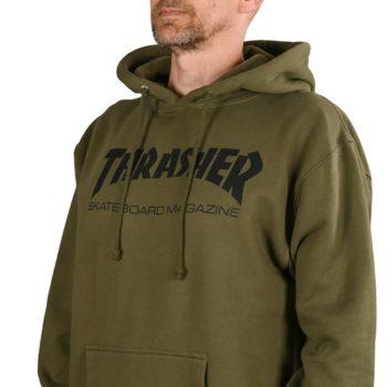 Thrasher Skate Mag Pullover Hoodie - Army