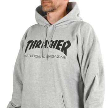 Thrasher Skate Mag Pullover Hoodie - Heather Grey