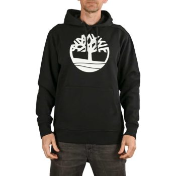 Timberland Core Logo Pullover Hoodie - Black / White