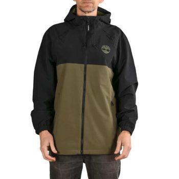 Timberland TFO YC Waterproof Hooded Shell Jacket - Black / Grape Leaf