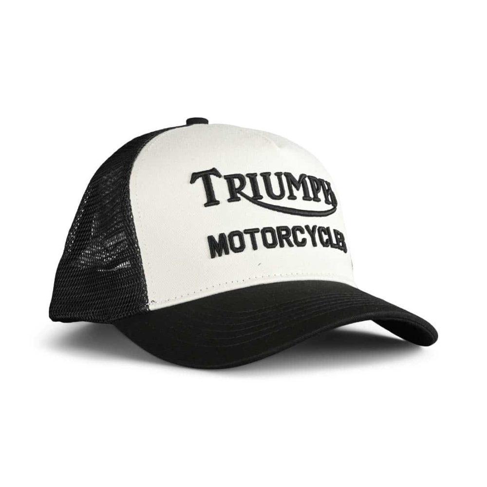 Triumph Oil Mesh Back Trucker Cap - Black / Bone