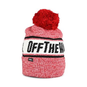 Vans Off The Wall Pom Beanie Hat - Chili Pepper / Black