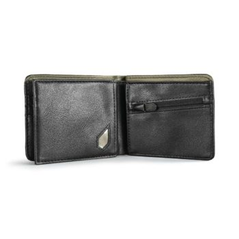 Volcom Pistol Tri-Fold PU Leather Wallet - Black