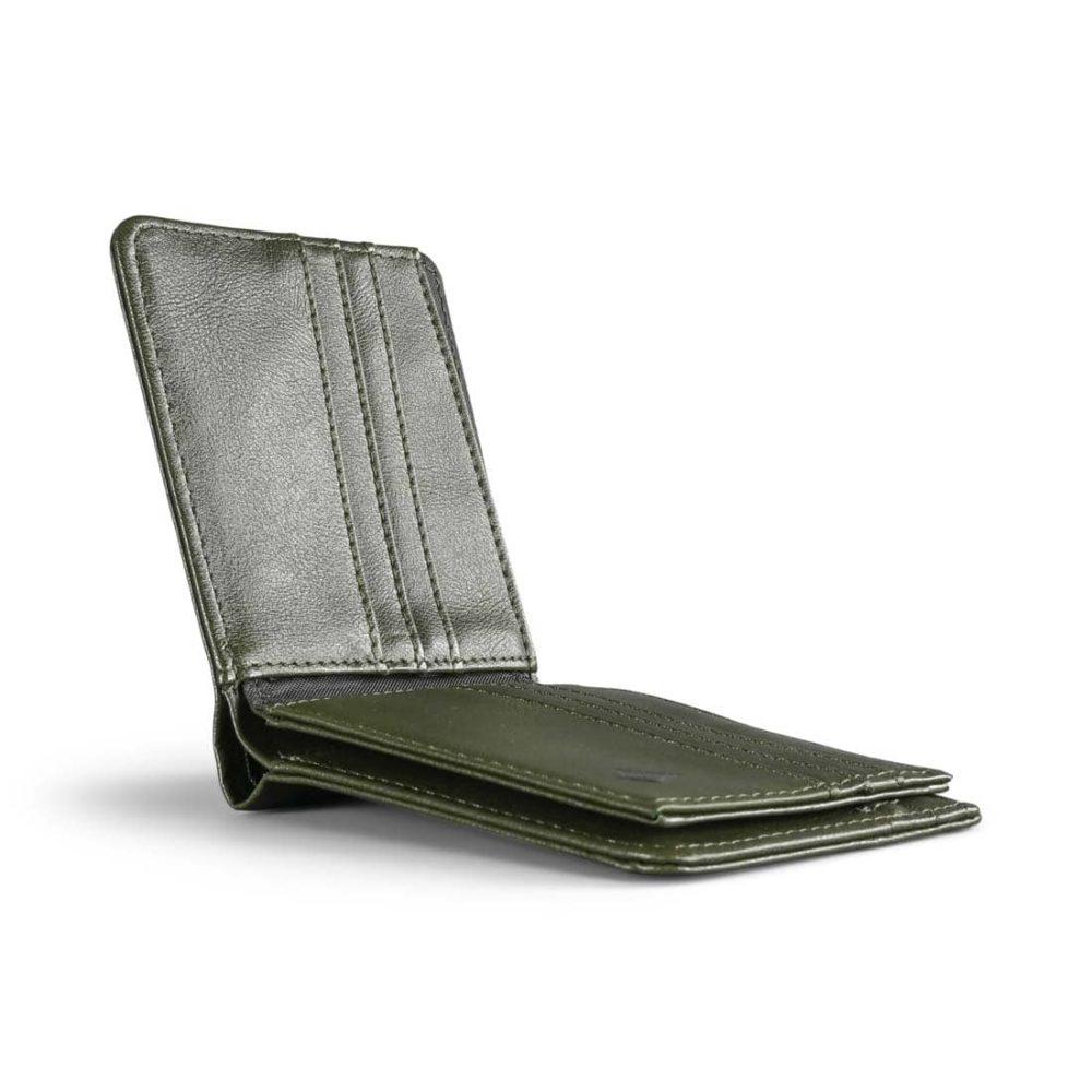 Volcom Pistol Tri-Fold PU Leather Wallet - Military Green