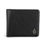 Volcom Slim Stone Small PU Leather Wallet - Black
