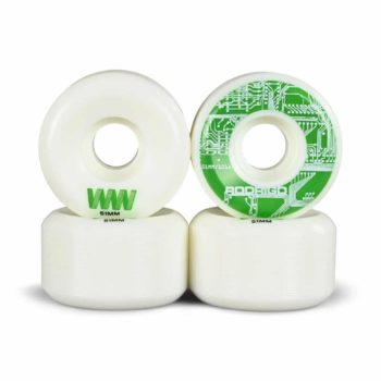 Wayward Rodrigo TX 51mm Funnel Cut Skateboard Wheels - White
