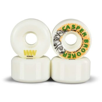 Wayward Casper Brooker 53mm Funnel Cut Skateboard Wheels - White