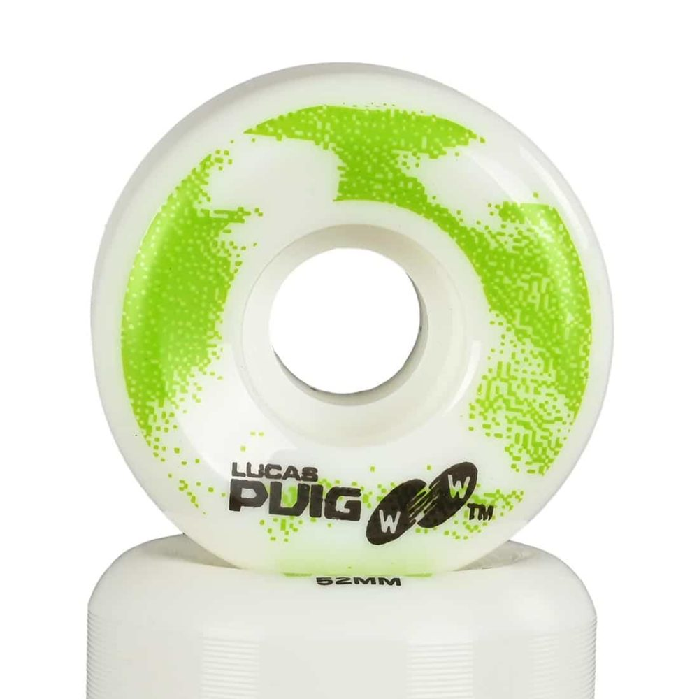Wayward Lucas Puig 52mm Funnel Cut Skateboard Wheels - White