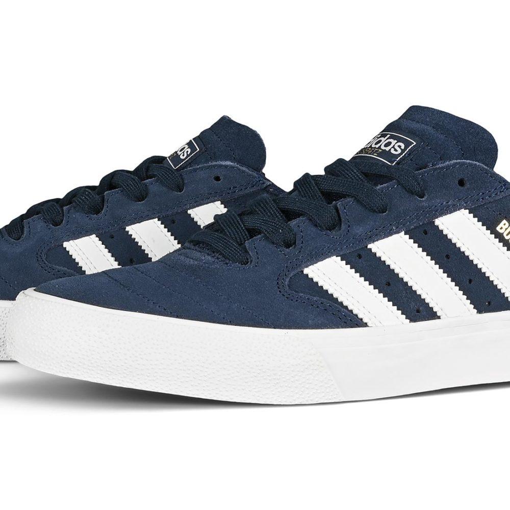 Adidas Busenitz Vulc II Skate Shoes - Collegiate Navy / White / Gold