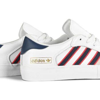 Adidas Matchbreak Super Skate Shoes - White / Collegiate Navy / Scarlet