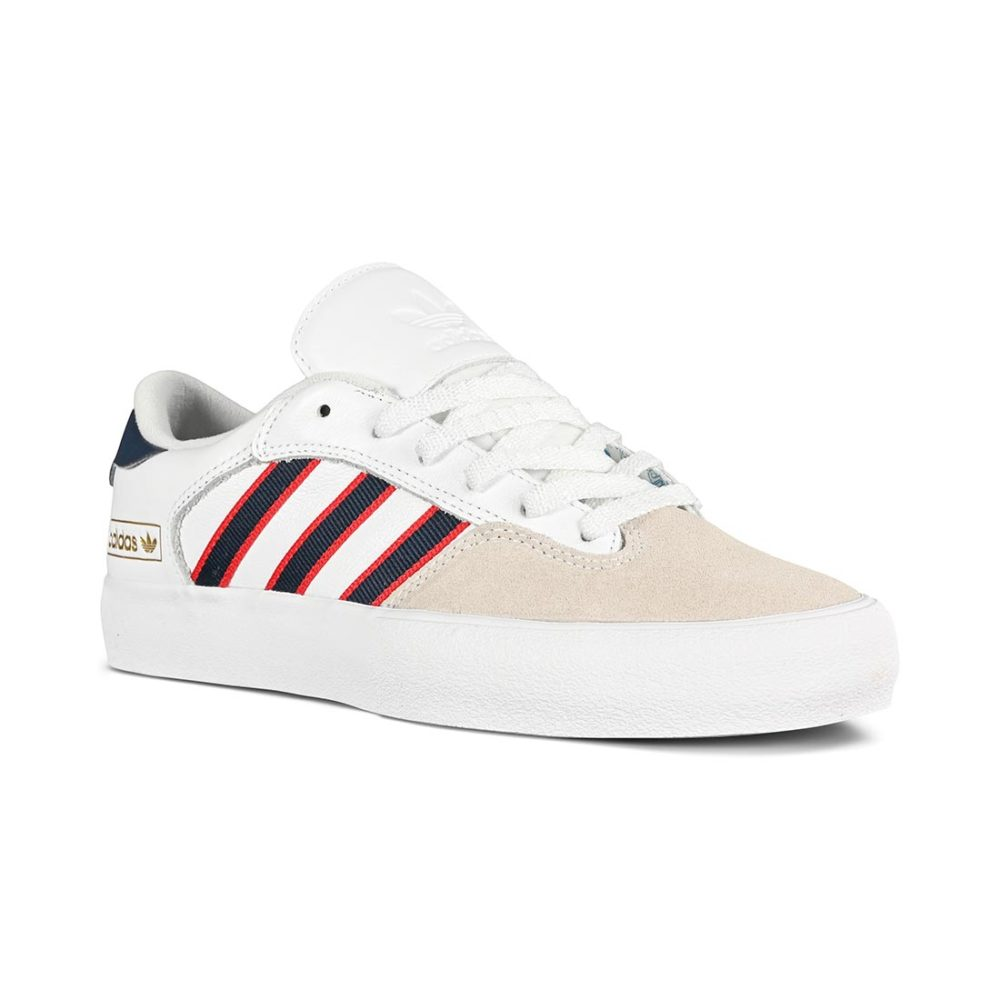 Adidas Matchbreak Super Skate Shoes - White / Collegiate Navy / Scarlet