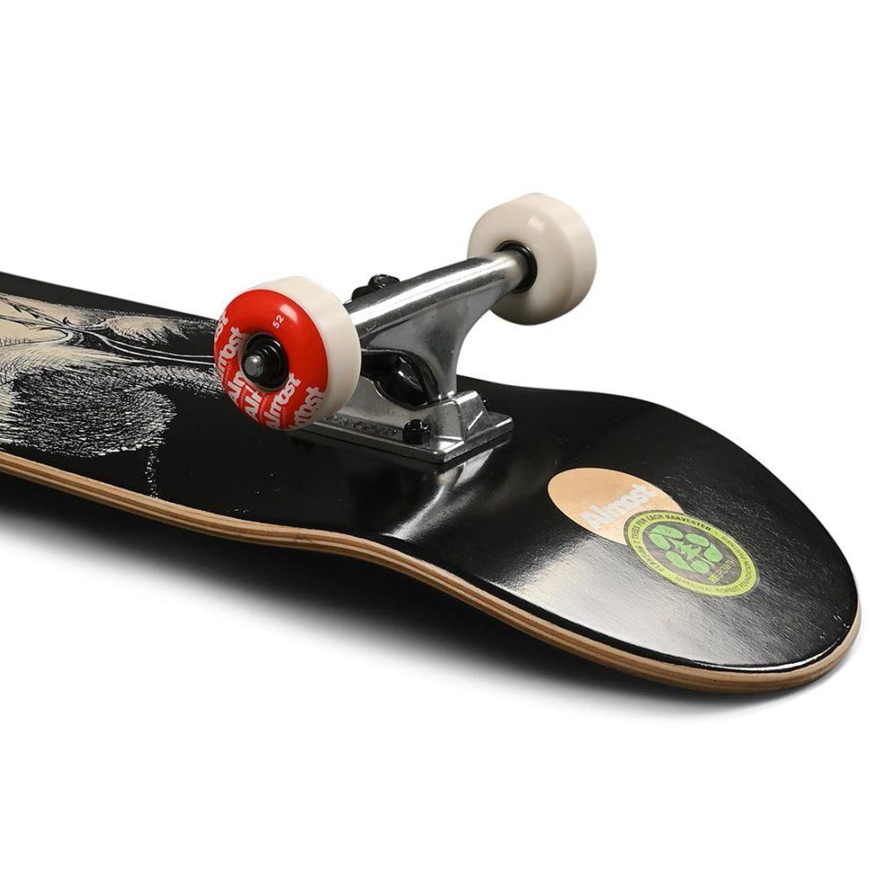 """Almost Dr Secret Art FP 7.875"""" Complete Skateboard - Black"""