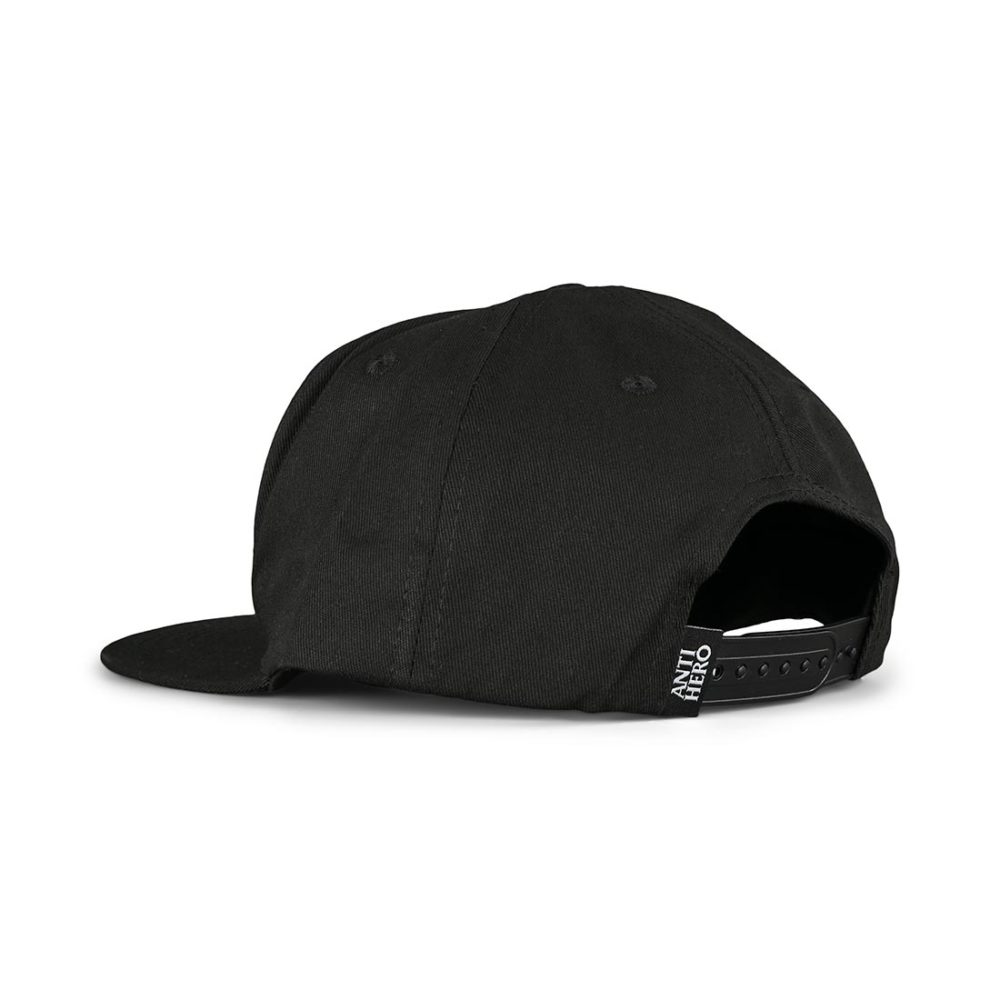 Anti Hero Basic Pigeon Snapback Cap - Black / White