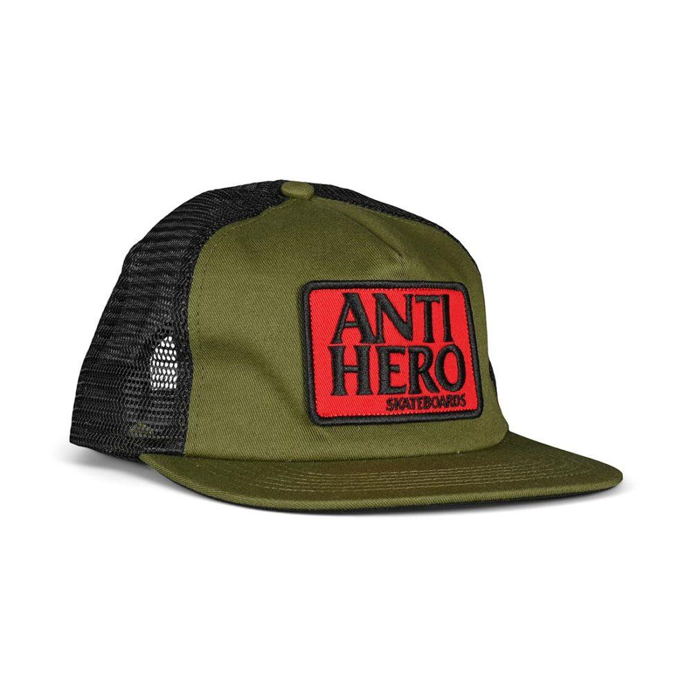 Anti Hero Reserve Patch Snapback Cap - Olive / Black