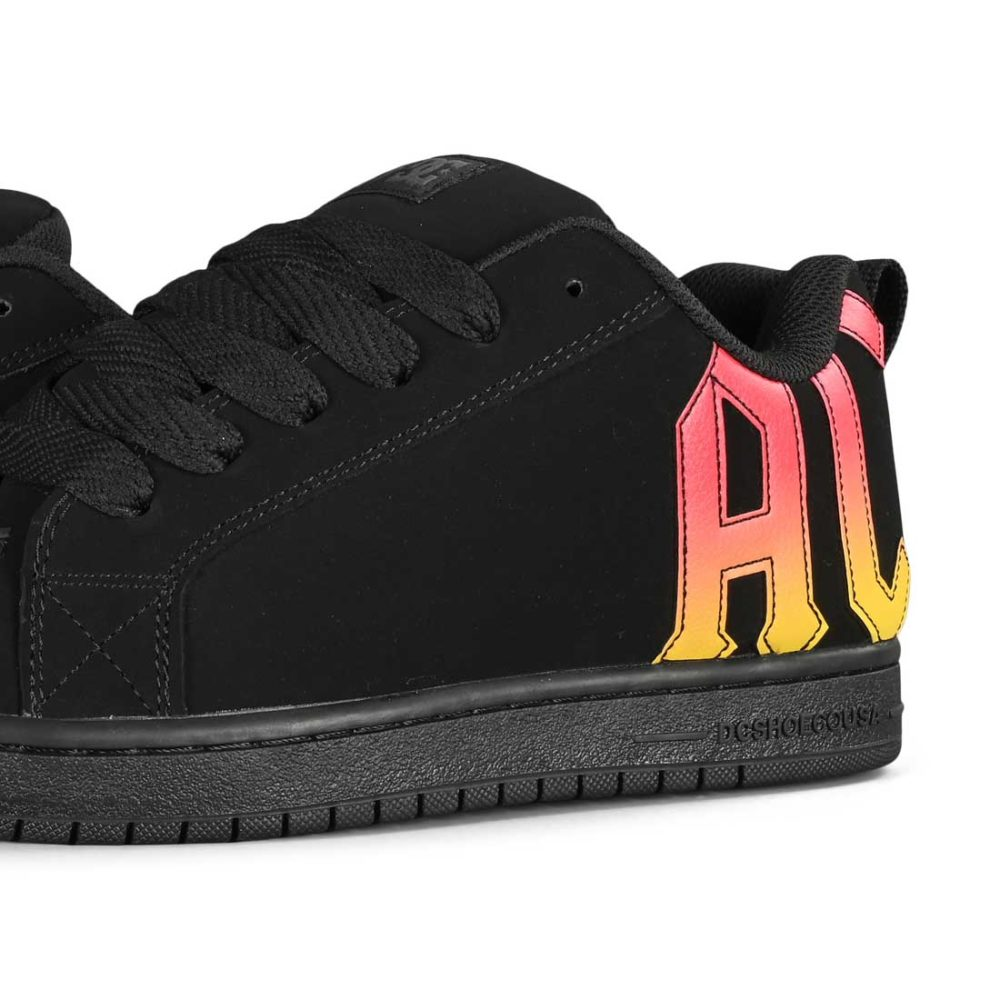 DC x AC/DC Court Graffik Skate Shoes - Black / Gradient