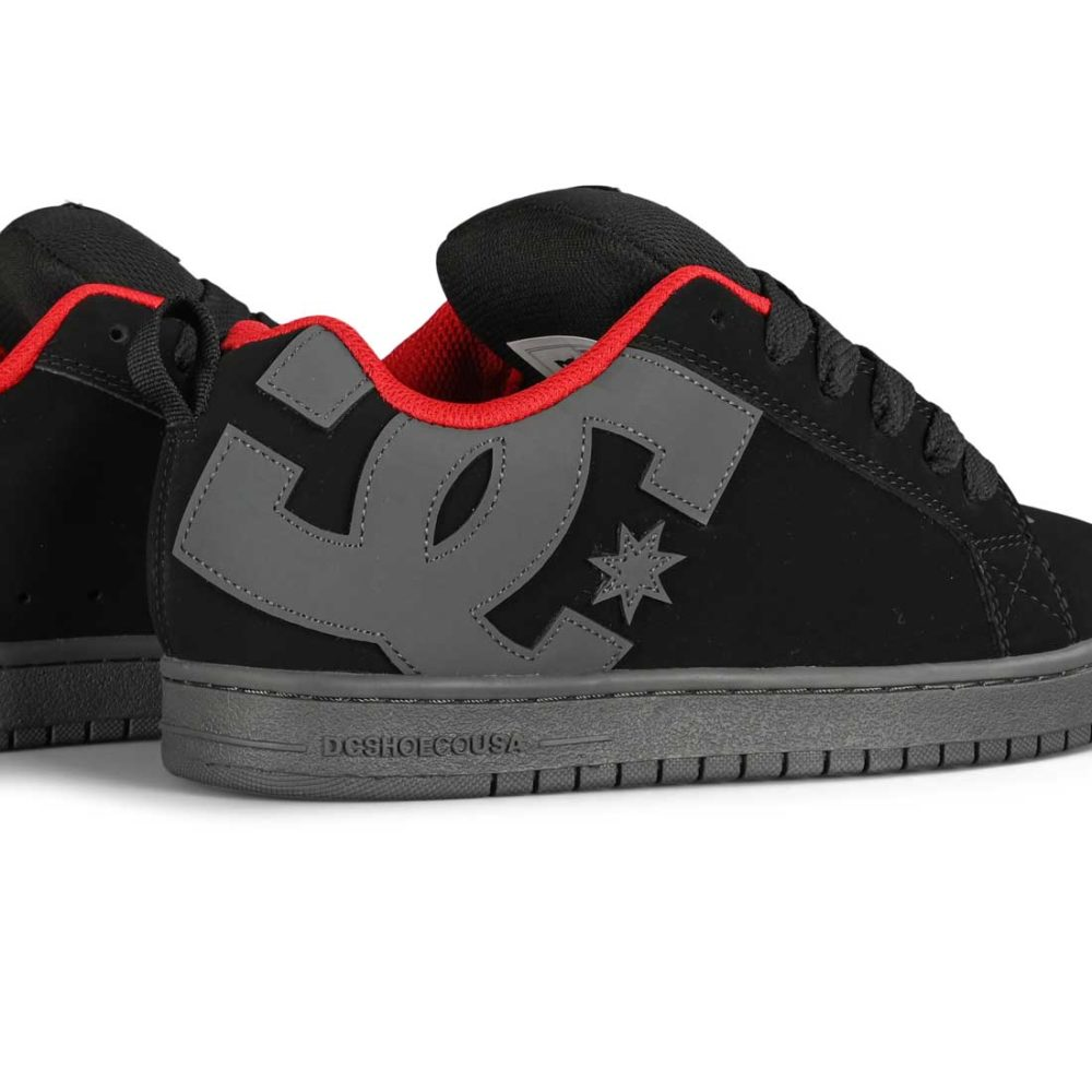 DC Court Graffik Skate Shoes - Black / Dark Slate