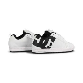 DC Court Graffik Skate Shoes - White / Black / Black