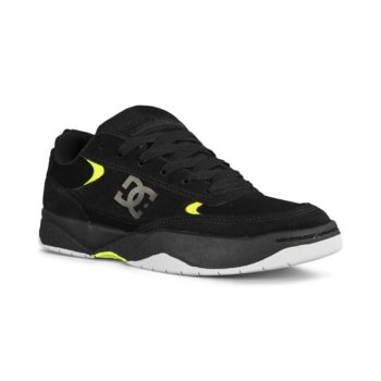DC Penza Skate Shoes - Black / Black / Yellow