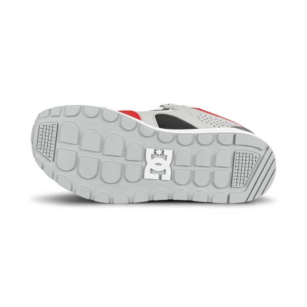 DC Kalis Lite Skate Shoes - Grey / Red