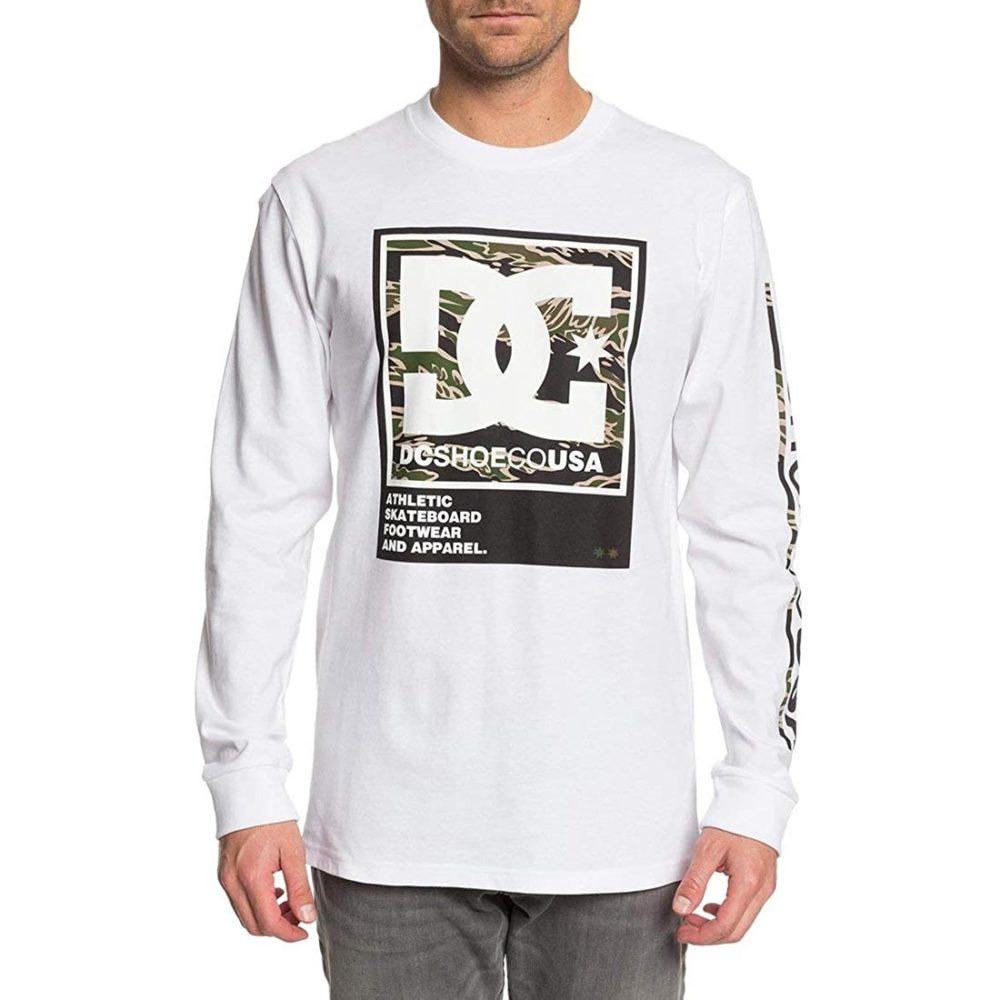 DC Shoes Arakana L/S T-Shirt - White