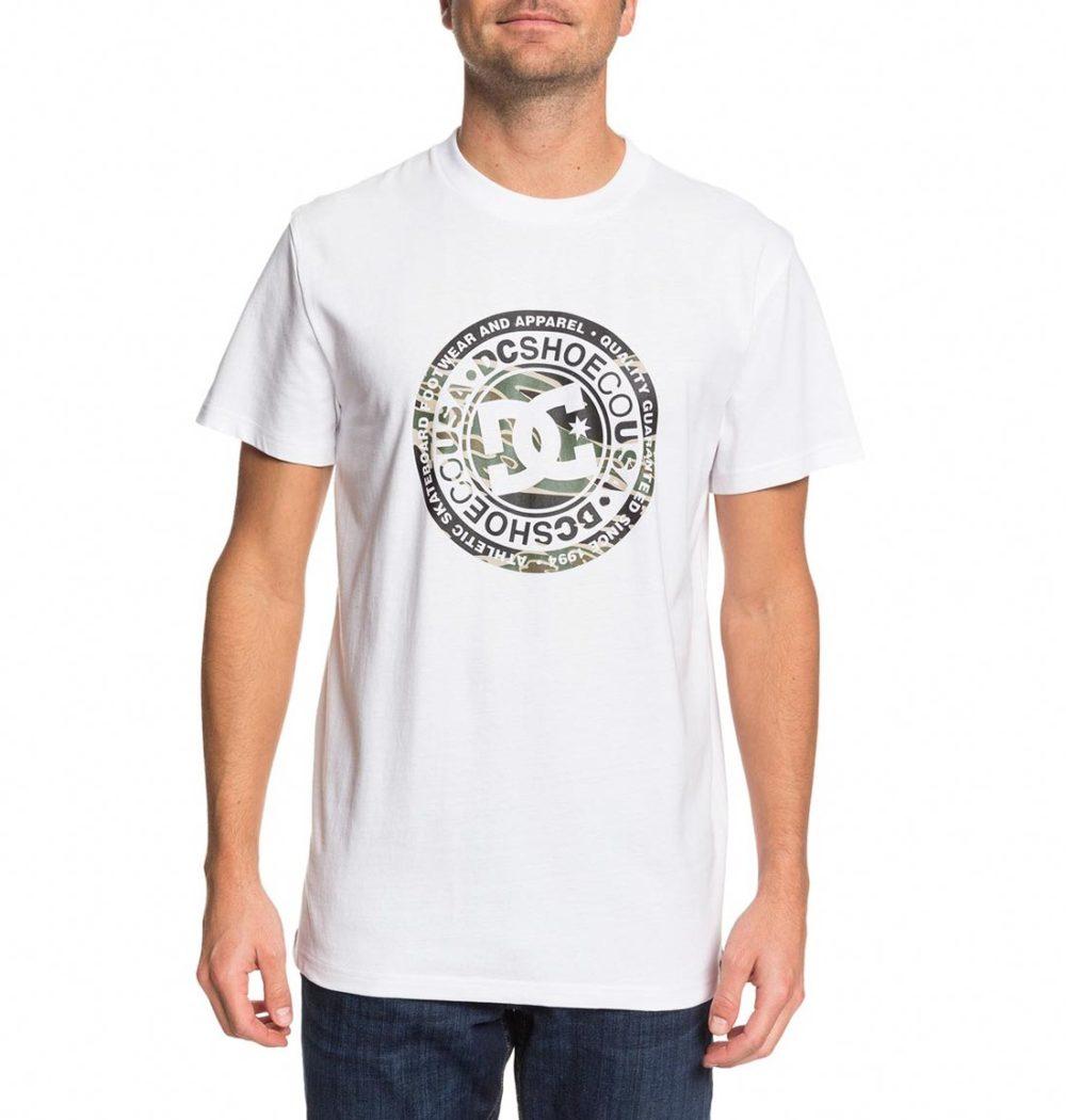 DC Shoes Circle Star S/S T-Shirt - Snow White / Camo