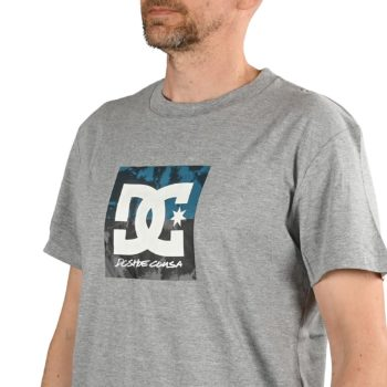 DC Shoes Double Down S/S T-Shirt - Heather Grey