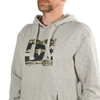 DC Shoes Star Pullover Hoodie - Grey Heather / Camo